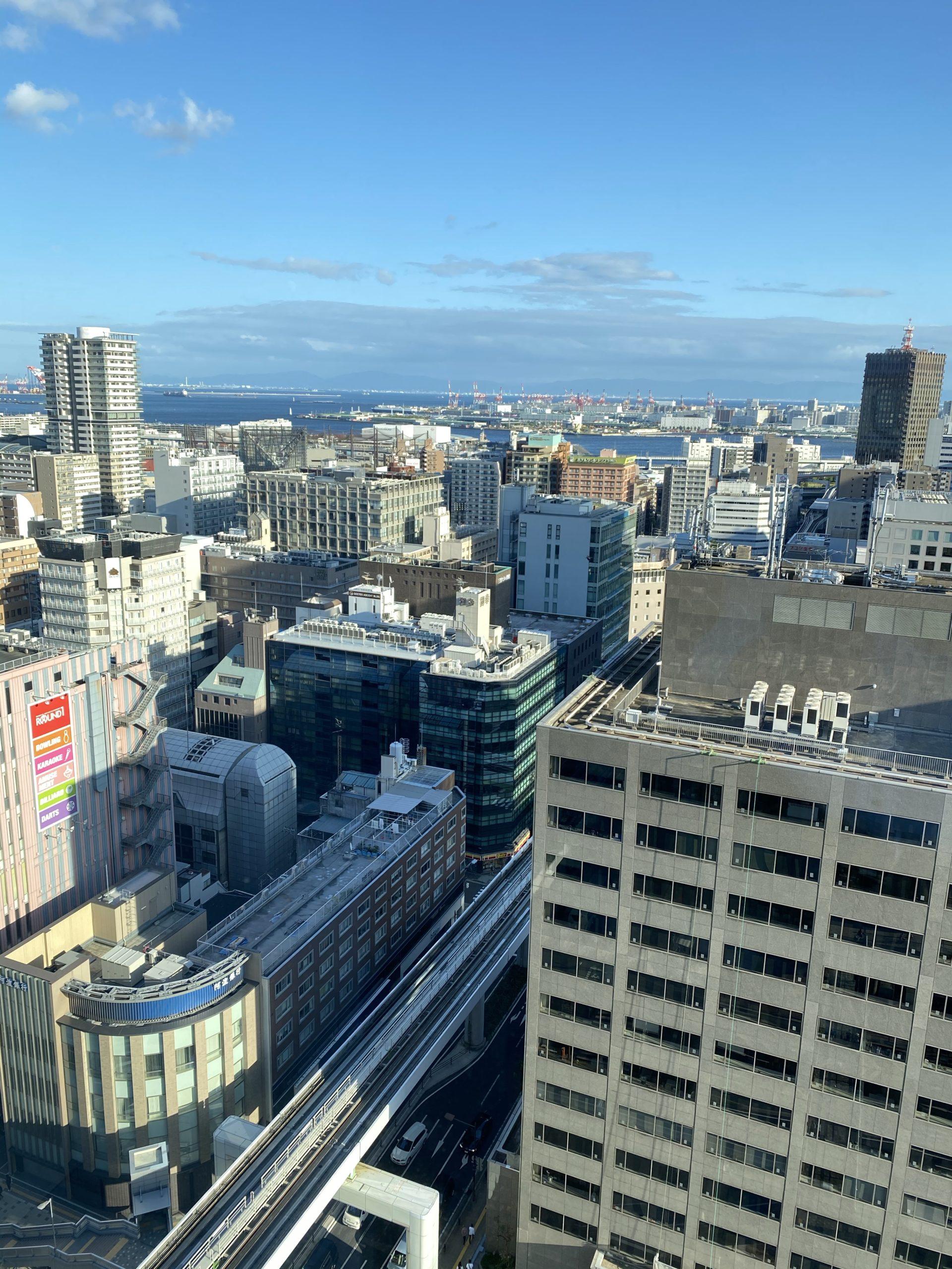 15階からの眺望、南面